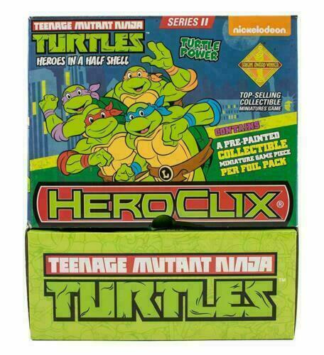 Heroclix Miniatures TMNT Heroes in a Halfshell  24ct Gravity Feed Display Box
